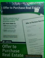 Real estate, offer to purchase real estate