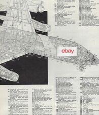 CONVAIR AIRCRAFT 2 PAGE 1960 CUTAWAY TECH DRAWING CV-600-900 FLIGHT-MARSDEN ART