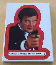 1979 Topps James Bond 007 Moonraker Trading Cards Sticker Set NM-MT