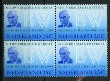 Nederland Nieuw Burgerlijk Wetboek 1970 963 blok v 4 - POSTFRIS