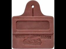 BOY SCOUT BSA OFFICIAL WOOD BADGE LEATHER NAME TAG MADE IN USA LOG AX AXE GIRL