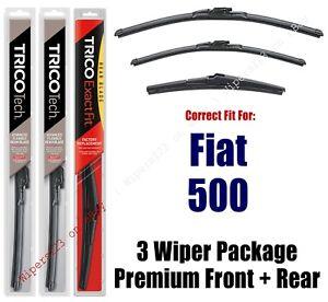 Wipers 3-Pack Premium Beam Wiper Blades fits 2012+ Fiat 500 - 19240/130/12A