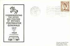 More details for card commemorating the end of the postmaster general 1st oct 1969 stonehouse lh0
