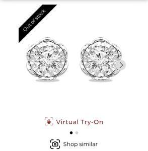 H Samuel 9ct White Gold 0.40ct Diamond Earrings