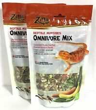 New listing 2 Bags Zilla Reptile Turtle Munchie Omnivore Mix 4oz Treat Food Add Water B35-2
