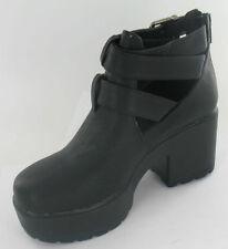 Chaussures noirs moyens à boucle pour fille de 2 à 16 ans
