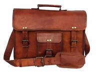 Laptop Artistic Leather Men Messenger Shoulder Satchel Briefcase Vintage Bag