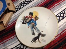 Super Rare! Norman Rockwell Four Seasons Series plate 1975 limited edition