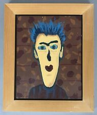 Original Outsider Art Painting Signed Scott McIntire Morgan Rank Gallery Pop Art