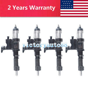 4X Common Rail Fuel Injector Assembly For Isuzu N-Series 4HK1 4JJ1 095000-5511