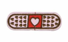 BAND-AID HEART PATCH, EMBROIDERED BAND AID LOVE PATCH, BANDAID APPLIQUE(PB-502)