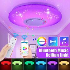 RGB LED Deckenlampe mit Bluetooth Musik Lautsprecher App Fernbedienung Handy 60W