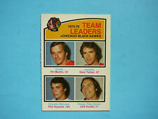 1976/77 O-PEE-CHEE HOCKEY CARD #382 PIT MARTIN DALE TALLON PHIL RUSSELL NM OPC