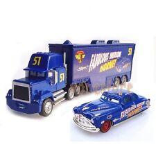 New Disney Pixar Car No.51 Mack Racer's Truck & Fabulous Hudson Hornet Toy 1:55