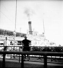 SUISSE c. 1949 - Bateau à Vapeur  Ouchy - Négatif 6 x 6 - Sui 206