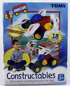 Tomy Constructables Vehicles Motorized Building Play set 2003 toy