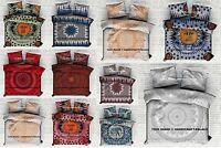 Indian Mandala Double Queen Size Bed Quilt Duvet Doona Cover Reversible Blanket