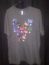Power Rangers Masks T-Shirt Men's 2XL Extra Extra Large 52/48