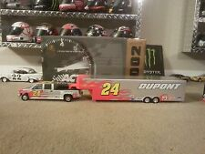 2002 Jeff Gordon 1/24 Scale Crew Cab & Show Trailer-Silver Dupont 1 Of 784