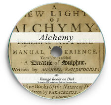 Antique Alchemy Books on DVD - Chemical Alchemical Occult Chemistry Science J0