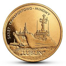 POLAND 2 ZLOTE 2013 y862 SHIP CLASS MINELAYER-LANDING SHIP LUBLIN UNC