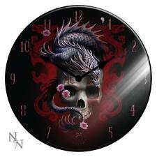 NEMESIS NOW ANNE STOKES EASTERN DRAGON GLASS WALL CLOCK Gothic/Legend/Skeleton