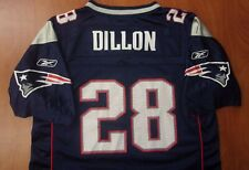 Reebok NFL New England Patriots Football Corey Dillon On Field Boys Jersey L