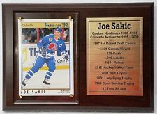 Quebec Nordiques Joe Sakic Hockey Card Plaque