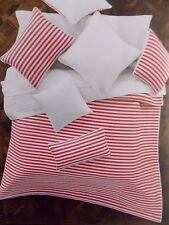 NEW KENSIE HOME HOT PINK WHITE STRIPE  2 PIECE TWIN QUILT & PILLOW SHAM SET