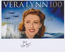 Vera Lynn Hand Signed 8x10 Photo Autograph, White Cliffs of Dover, War Singer F