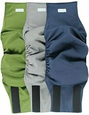 Set of 3 XL Paw Legend Washable Dog Belly Wrap Diapers - Green, Grey, Blue