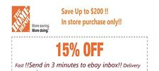**Fast delivery** Home Depot 15% OFF 1Coupon Save up to $200- In store only !!