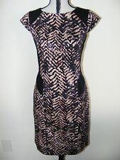 Flattering OJAY Batic Print Dress Size 12 AS NEW