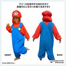 SAZAC Super Mario Brothers Fleece Costume Unisex for Children 110 Size Japan New