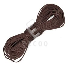 20M Waxed Cotton Cord String Thread Beading Jewelry Leathercraft Making 1mm