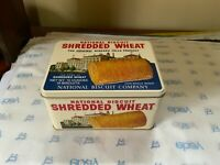 VINTAGE NABISCO SHREDDED WHEAT METAL TIN BOX REPLICA of 1987 SPECIAL EDITION