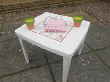 PVC TABLE WITH SNAKES AND LADDERS GAME ON TOP SURFACE