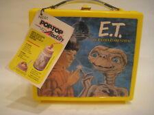vtg 1982 Aladdin ET The Extra Terrestrial movie LUNCHBOX plastic French Canada