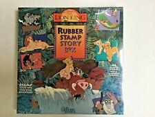 New Vintage  Disney The Lion King Rubber Stamp Story Box Set  Rubber Stampede