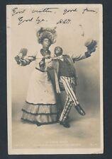 "1903 BLACK ENTERTAINERS ""CAKE WALK"" RACIST Vintage Real Photo Postcard"