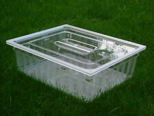 Gastronorm lids polycarbonate.  GN 2/1 lid SOLD IN KITS OF 3 PIECES £18.66ea