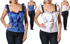 Hand-wash Only Solid Western Tops for Women