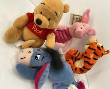 "Walt Disney 8"" 2001 Winnie The Pooh With Bumble Bee on Tush-bean Bag"