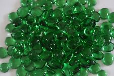 500 Pcs Emerald Green Glass Gems, Pebbles, Mosaic Tiles, Nuggets