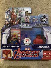 Marvel Avengers Ultron Revolution Captain Marvel Red Hulk MiniMates Figure Pack