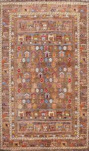 Geometric Super Kazak Oriental Area Rug Vegetable Dye Handmade Wool 7x10 Carpet