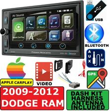 2009-2012 DODGE RAM GPS Navigation APPLE CARPLAY BLUETOOTH CAR STEREO PACKAGE