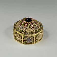 Rucinni Flowers & Crystals Trinket Box/Jewelry Box With Hinge And Magnetic Lid