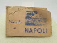 1946 Souvenir Ricordo Di Napoli Italy Small Pocket Size Photo Book USS Missouri