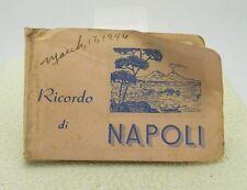 1946 Souvenir Ricordo Di Napoli Italy Small Pocket Size Photo Book USS Missouri